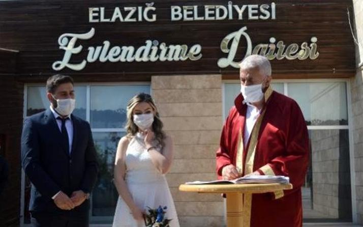 Elazığ'da nikahlara sınırlama getirildi: Gelin ve damat dahil 10 kişi katılabilecek