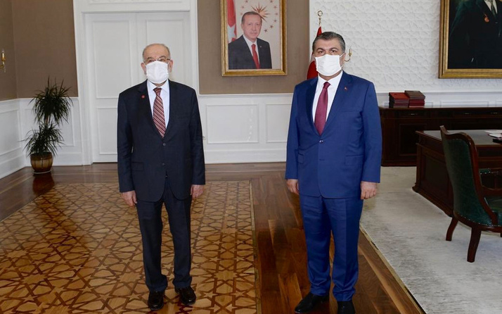 Sağlık Bakanı Fahrettin Koca, SP lideri Karamollaoğlu ile bir araya geldi