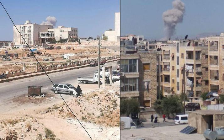 Rus uçakları, İdlib kentinin güneyini bombalıyor