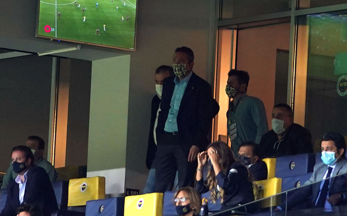 Ali Koç ve Emre Belözoğlu maçın son dakikalarını ayakta izledi