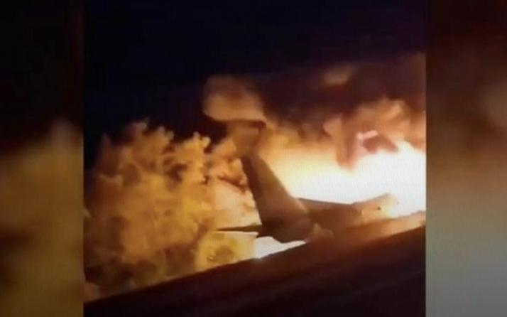 Ukrayna'da askeri uçağın düşmesi sonucu 25 kişi öldü