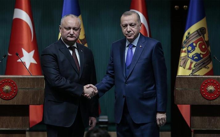 Cumhurbaşkanı Erdoğan ile Moldova Cumhurbaşkanı Dodon görüştü
