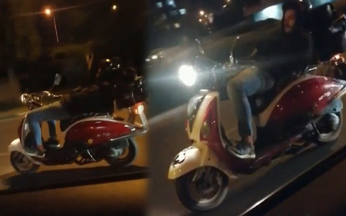 Bursa'da trafiği tehlikeye attı! Yattığı yerden bin 360 lira ceza yedi