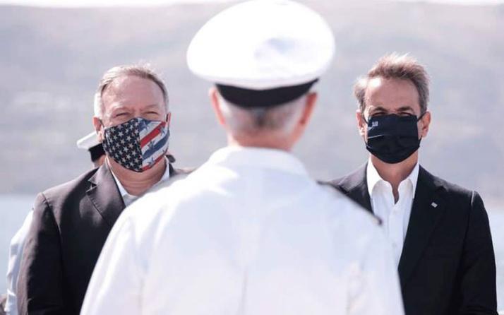 Girit'te NATO üssünü ziyaret eden Pompeo'dan 'Türkiye-Yunanistan' krizi açıklaması