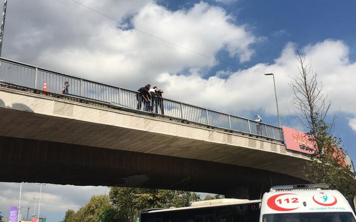 Beşiktaş'ta trafiği felç eden intihar girişimi