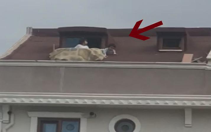 Sultanbeyli'de 2 küçük çocuk çatıya böyle çıktı sonrasında yürekler ağza geldi