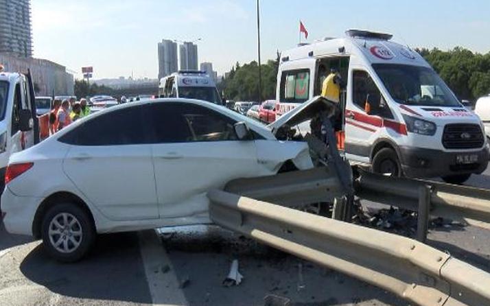 Eyüpsultan TEM otoyolunda feci kaza! 5 kişi yaralandı