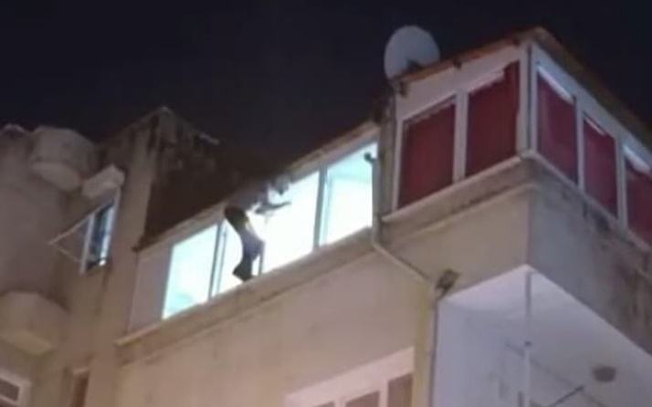 İzmir'de cezaevi firarisi polisi görünce pencereye çıktı! Annesi gelince bakın ne yaptı