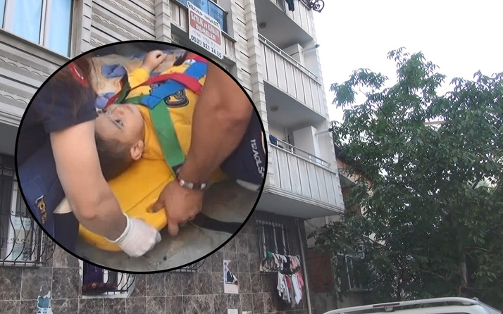 İstanbul'da her şey bir anda oldu! 3 yaşındaki çocuk balkondan düştü