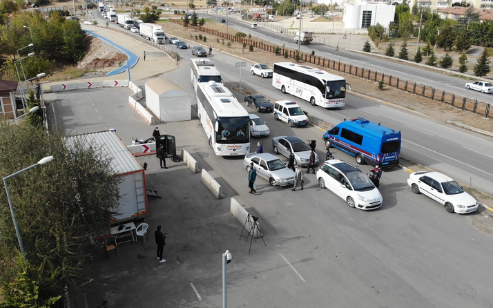 43 ilin geçiş güzergahı Kırıkkale'de otobüslerde koronavirüs denetimi