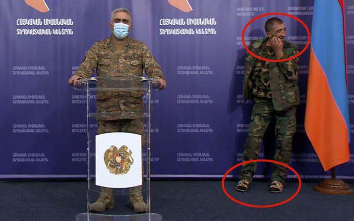 Ermeni ordusu iyice dağıldı! Komutanın arkasında yaptığına bak