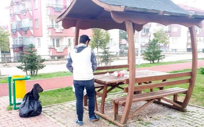 Bolu'da çöplerini bıraktığı parkta cüzdanını unutan gence ibretlik ceza