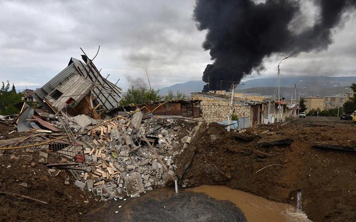 Dağlık Karabağ'da varılan 'insani ateşkes' yürürlüğe girdi