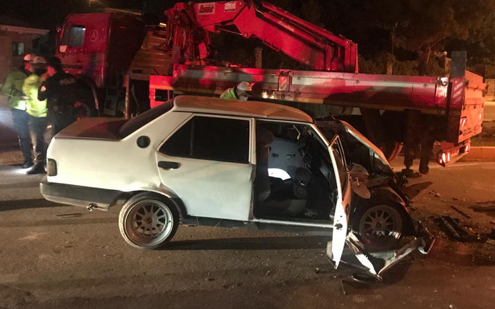 Aksaray'da 'dur' ihtarına uymayan sürücü trafik kazasında öldü