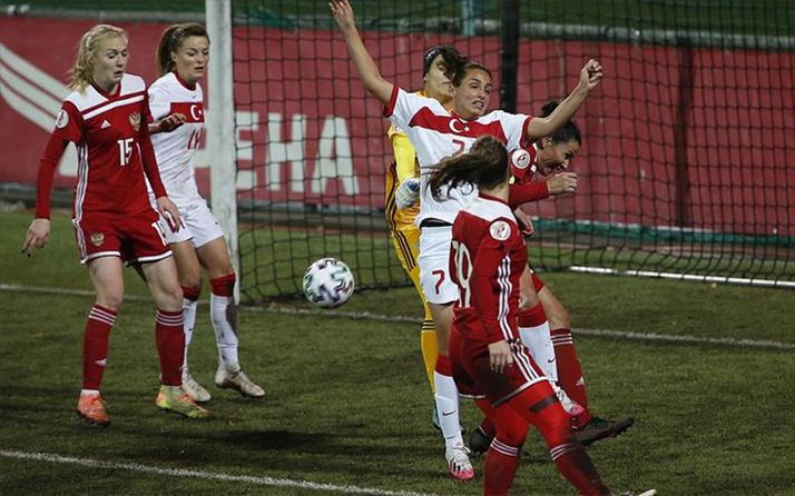 A Milli Kadın Futbol Takımı deplasmanda Rusya'da yenildi