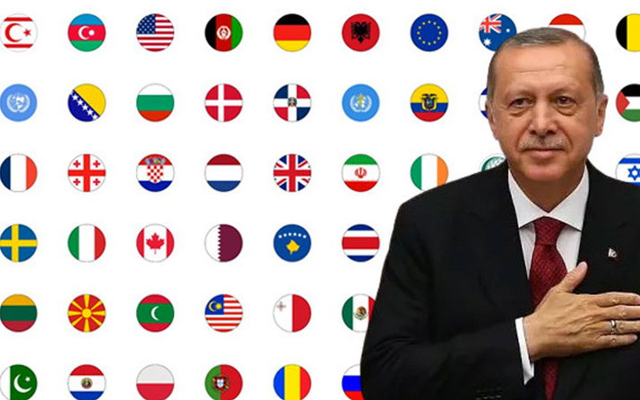 İşte İzmir depremi sonrası Türkiye'ye destek veren ülkeler! Erdoğan paylaştı