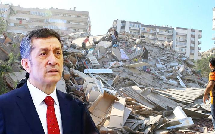 Son dakika İzmir'de deprem nedeniyle eğitime bir hafta ara! Bakan Selçuk açıkladı