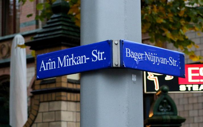 Almanya'da rezalet! Sokağa PKK'lı teröristlerin ismi verildi