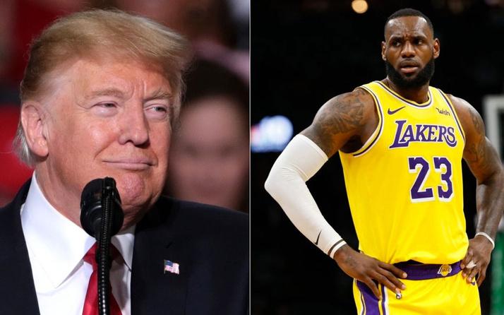 Trump, LeBron James'i hedef aldı: Bayrağımıza saygı göstermiyor