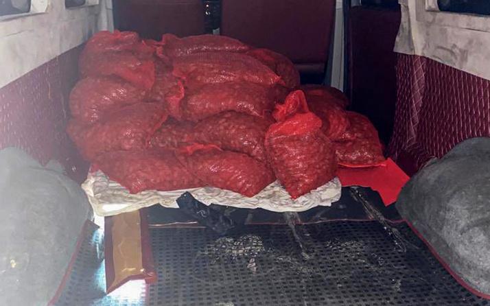 Edirne'de 500 kilo ele geçirildi! 100 bin TL ceza kesildi