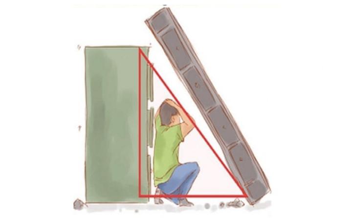 Evde yaşam üçgeni oluşturma pozisyonu fotoğrafları