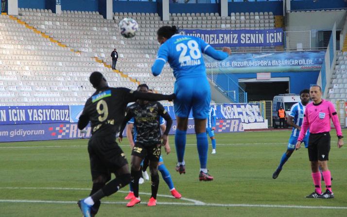 BŞB Erzurumspor-Göztepe maçı 1-1'lik skorla son buldu