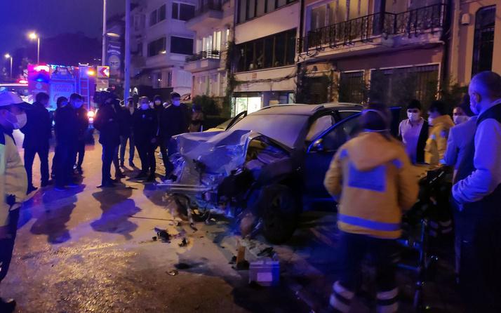 Beşiktaş'ta aşırı hız kazayı beraberinde getirdi: 2 kişi yaralandı