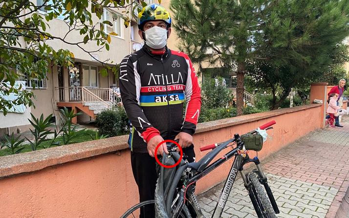 İstanbul'da bisikletinin lastiği patladığında gördüğüne inanamadı