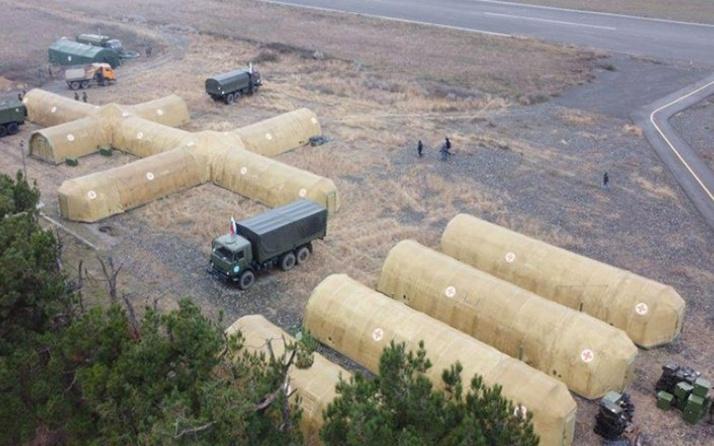 Rusya, Dağlık Karabağ'da sahra hastanesi kurdu! 100'den fazla patlayıcı imha edildi