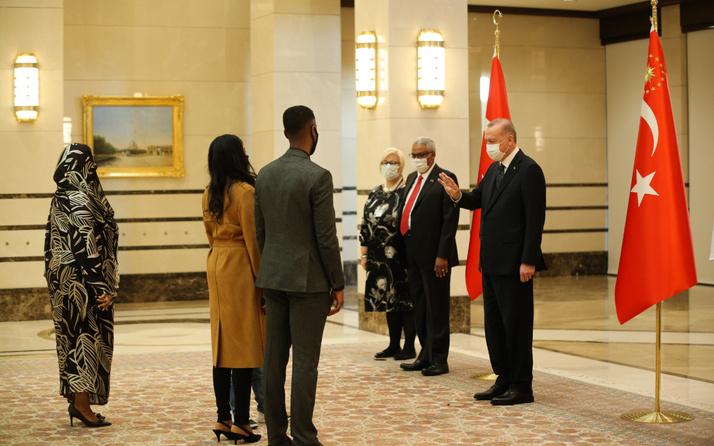 Cumhurbaşkanı Erdoğan, Sudan Büyükelçisini kabul etti