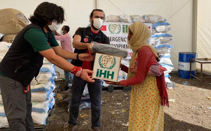 İHH'dan Etiyopyalı mültecilere gıda ve sağlık yardımı