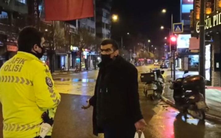 Bursa'da polis evsiz kişiye ceza kesmedi