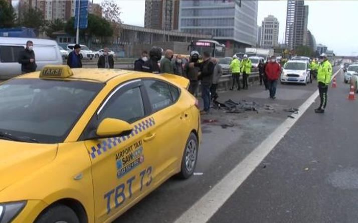Emniyet şeridinde feci kaza! Kartal D-100'de motosiklet sürücüsü öldü