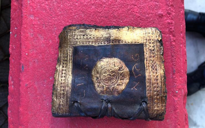 Bodrum'da altın varaklı el yazması Tevrat ele geçirildi
