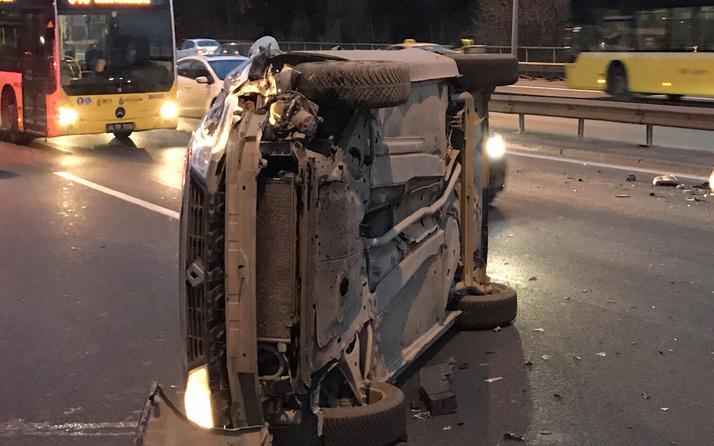 15 Temmuz Şehitler Köprüsü'nde feci kaza! Trafik yoğunluğu oluştu