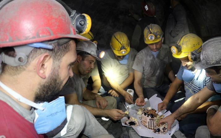Amasya'da madenciler yeni yıla maden ocağında çalışarak girdiler