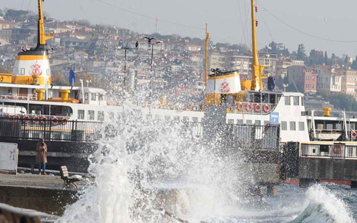 Lodos deniz ulaşımını vurdu! Şehir Hatları bazı seferleri iptal etti