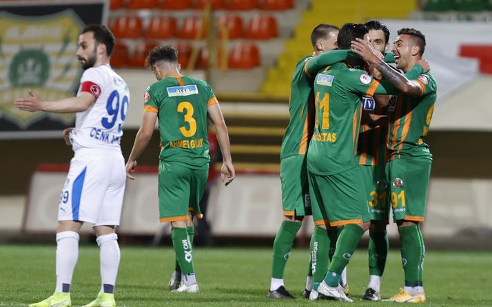 Alanyaspor konuk ettiği BB Erzurumspor'u kupanın dışına itti