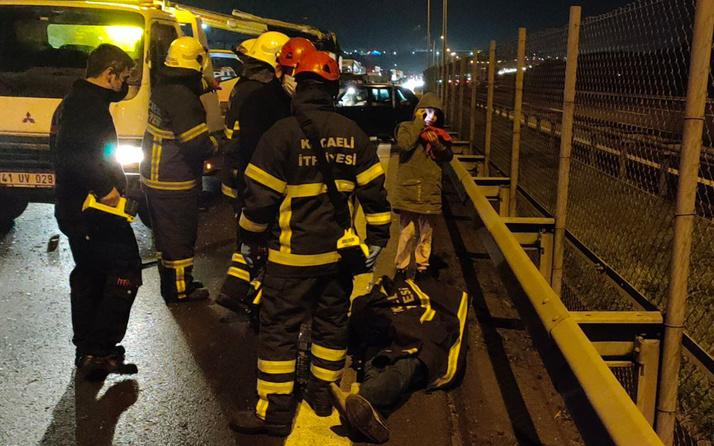 Kocaeli'de zincirleme trafik kazasında 7 kişi yaralandı