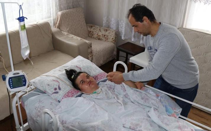 Zonguldak'ta doğumda iki kez kalbi durdu eşi yardım istiyor