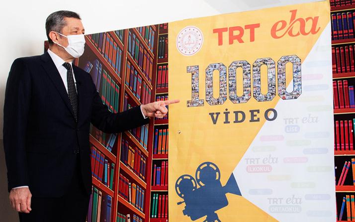 EBA TV öğretmenleri 10 ayda 10 bin ders videosuyla rekora imza attı! Ziya Selçuk açıkladı