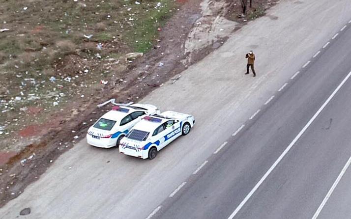 Trafikte bir ilk! Eskişehir'de yol kenarında gören bir daha bakıyor