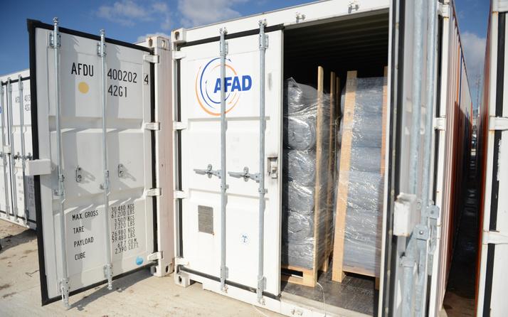 Eskişehir'de AFAD'ın konteynerlerinden yardım malzemeleri çalındı