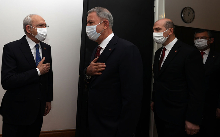Son dakika Bakan Akar ve Soylu, Kemal Kılıçdaroğlu'nu ziyaret etti! Gara operasyonunu anlattılar