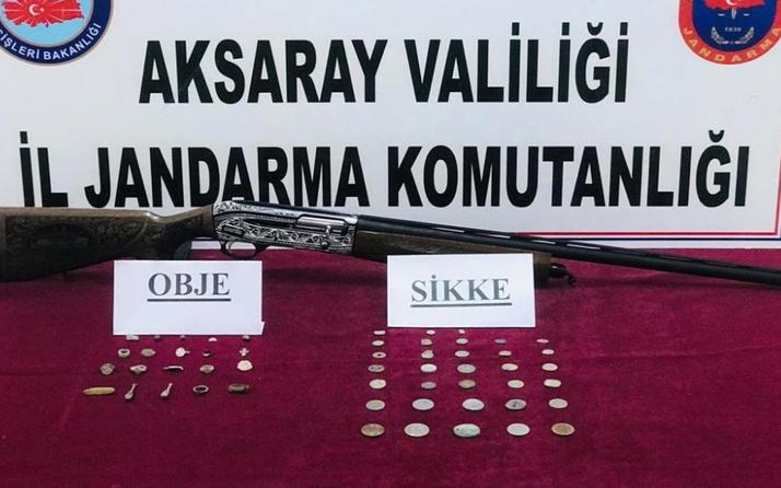 Aksaray'da tarihi eserleri satmaya çalışıyordu! Yakayı ele verdi