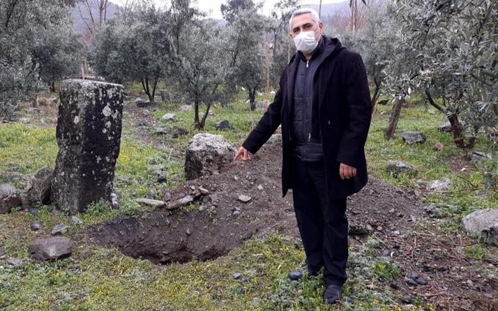 'Burada altın var' diyorlar! Osmaniye'de 200 yıllık mezarı görünce şok oldu