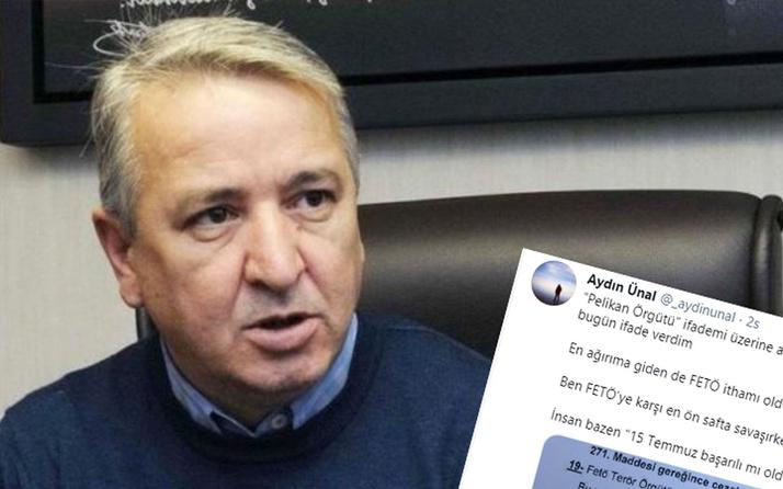 Erdoğan'ın eski metin yazarı Aydın Ünal 'Pelikan Örgütü' dediği için ifade verdi
