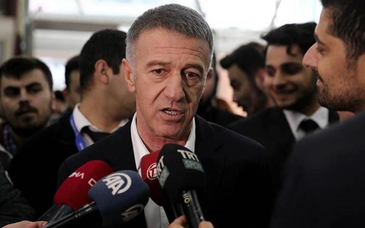 Trabzonspor Başkanı Ağaoğlu'dan Fenerbahçe maçının hakemine tepki