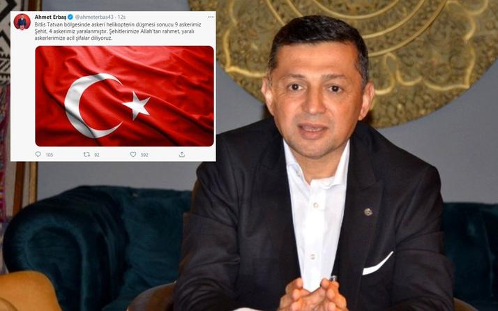 MHP'li vekil Ahmet Erbaş o mesajı amca oğlu için paylaştığını bilmiyordu yürek burkan detay...
