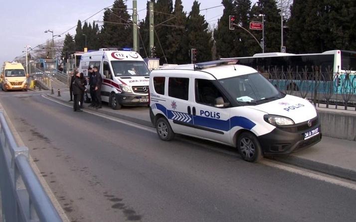 İstanbul'da tramvayda korku dolu anlar! Ayağına basınca dehşeti yaşadı!